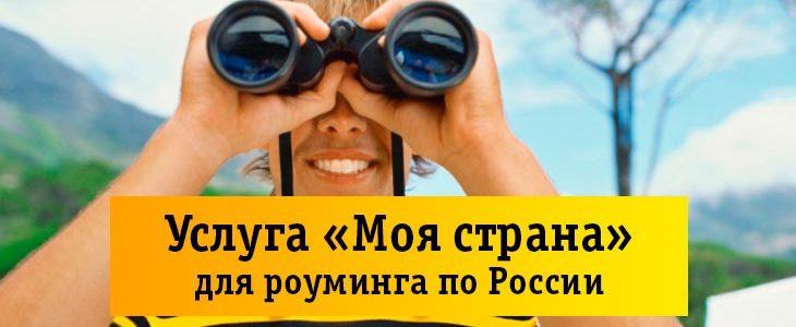 Услуга Билайн «Моя страна» для роуминга по России